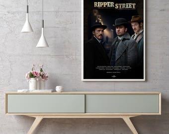 Ripper Street Poster, TV Poster Art Print, Ripper Street, TV Poster, Wall Art, BBC Series, Matthew Macfadyen, Jerome Flynn