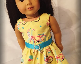 "Bicycle Dress clothes for 18"" Dolls like American Girl, My Life or Our Generation Dolls"