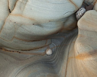 Rock formation on Spittal beach, Northumberland, UK