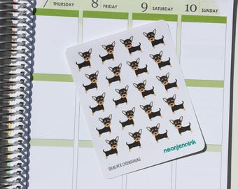 Black & Tan Chihuahua Stickers (Set of 20 Stickers)