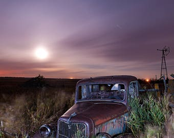 Vintage Ford Truck, Old Ford Truck, Classic Ford, Rural Landscape,