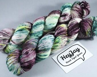 Hand Dyed Sock Yarn Superwash Merino/Nylon - Graffiti