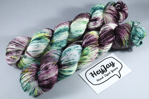 Hand Dyed Sock Yarn Superwash Merino/Nylon - Graffiti