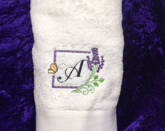 Lavender and lace towel
