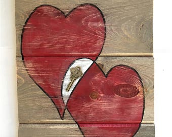 Key To My Heart - Reclaimed Tongue and Groove Wood