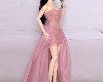 Iple FID Dusty Rose evening dress (outfit for Iplehouse FID lady)