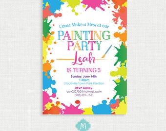 Art Party Invitation Art Party Art Birthday Invitation Art