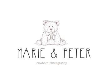 Photography logo / Premade kids logo / Photo studio logo / Newborn photography / Business logo / Branding logo / Bear logo / Premade logo