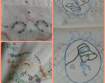 Vintage Embroidery Needlework | Morning Glories | Forget-Me-Nots | Southern Belle Charm