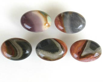 POLYCHROME JASPER Stone Cabinet Knobs - Gemstone Pulls - Home Decor