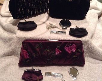 Handmade Judith Leiber Vintage 1980s Handbags Clutches Evening Bags Purses Beads with Accessories New York Italy
