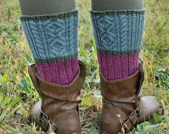 Scottish Heather Socks Knitting Pattern - PDF