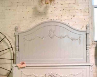 Painted Cottage Shabby Romantic Princess Rose Floral Twin / Double /Full Bed / Queen Bed BD827