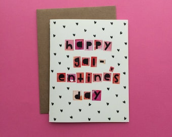 Happy Galentine's Day Greeting Card, Happy Valentine's Day, Palentine's Day, Valentine for Friend, Leslie Knope Card, Leslie Knope Gift