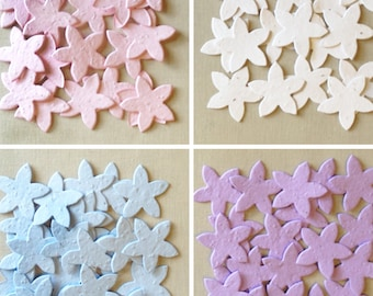 Star Flower Plantable Seed Paper Confetti, Wildflower, Recycled Paper  - Approx 125 Pack, Available in 29 Colors