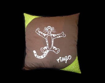 Personalized initials Tigger cushion