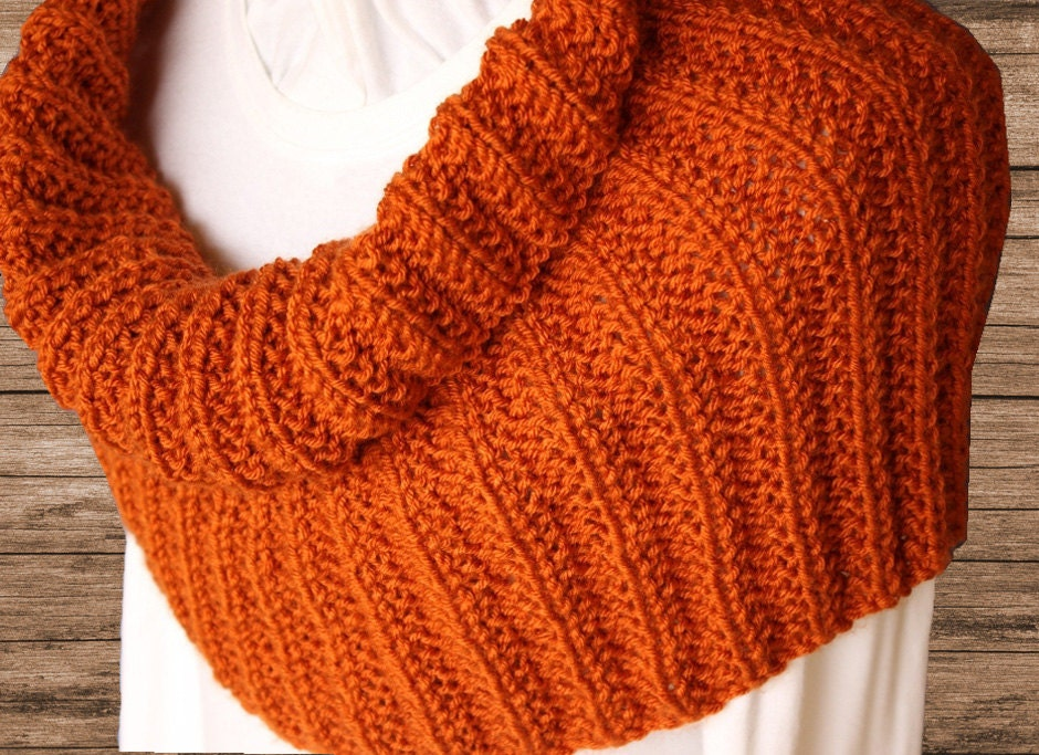 Pattern for Cowl Knit in Round, Knit Cowl Patterns, Rib Knitting ...