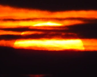Framed photograph : SUNSET INFERNO