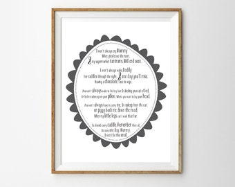 I Won't Always Be this Small Print for a Baby Boy or Girl's Nursery - Instant Download Wall Art - Print at Home