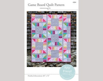 Game Board Quilt Pattern --PDF