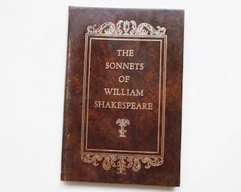Vintage Book 1961, The Sonnets of William Shakespeare, 88 pages Crown Publishers, Inc NY, English Literature Poetry, 154 Sonnets Hardcover
