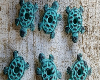 Copper Patina Turtle Buttons