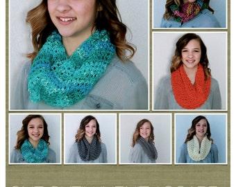 crochet cowl pattern - One Skein Infinity Cowl - crochet pattern - easy scarf pattern