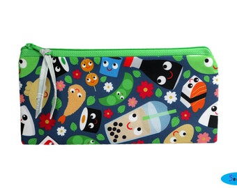 Pencil Case-Pencil Pouch-Zip Bag-Zip Pouch-Zipper Bag-Zipper Pouch-Cute Zip Bag-Food Zipper Pouch