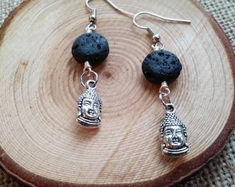 Buddha diffuser earrings