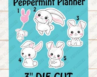 Sweet little Easter Bunny's --- Die Cut --- DC09