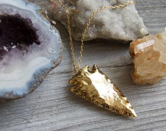Gold Arrowhead Necklace » Arrowhead Jewelry » Arrowhead Pendant » Layering Necklaces » Layered Necklaces » Boho Jewelry