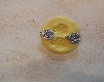 Mold 2 Roses, silicone mold,Resin, craft mold, porcelain mold, jewelry mold, food mold, pop up mold, clays mold, flexible mold