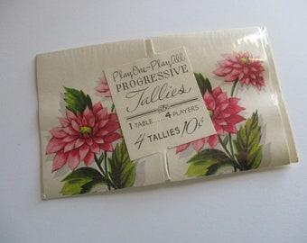 Vintage Tallies-FLOWERS-Old Stock-Ephemera-Games-Playing Cards-Unused
