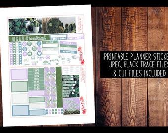 Succulent Photography Mini Happy Planner Kit PRINTABLE Planner Stickers | Planner Stickers, Digital, for use in Erin Condren Planner, TN