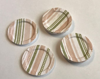 1:12 Scale Dollhouse Paper Plates Set of 12