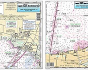 LPE343 Lake Pontchartrain East, LA Nautical Fishing Chart