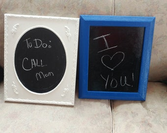 Two chalkboards