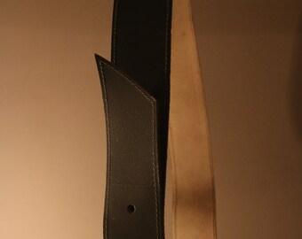 80s belt true vintage leather light grey DDR VEB Lakowa Wilthen 113 cm 1987 Silver Buckle Retro