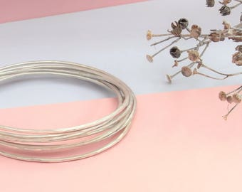Stacking Bangles - Hammered Bangle - 'Beaten' Bangle -  Bangle / Bracelet - Sterling Silver & Handmade
