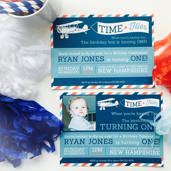 Items Similar To Airplane Birthday Invitation: Items Similar To Airplane €� Time Flies Birthday Party