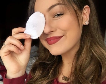 20 makeup removing wipes, 3'' in  Facial rounds,  Eco friendly Makeup removers, Face wipes, Reusable makeup wipes, cotton rounds wipes