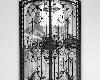 Paris Photography, The Paris Door, Black and White Paris Print, Home Decor, Paris Decor, House Warmig Gift, Lovely Day in Paris