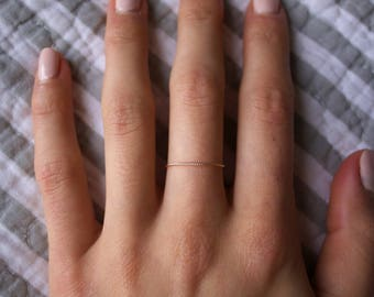 Minimalist Ring/ Thread of Gold Bands/ Stackable Handmade/ Dainty/ Delicate Gold Filled Rings/ Vegan jewelry/