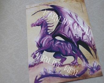 Postal purple Dragon card