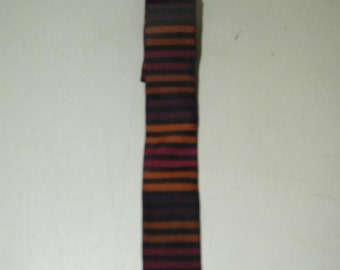Vintage Stripe Skinny Tie Brown Red 13094
