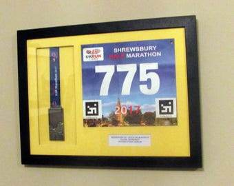 Personalised Framed Running Race number and Medal