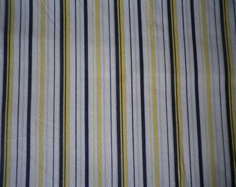 Dramatic  black and yellow striped cotton mid weight broadcloth, wide range of project uses, price is for 2 metre piece