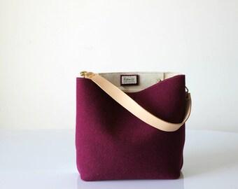 Eimer, Hobotasche, Umhängetasche, graue Tasche, Handtasche, Geldbörse, lässige Tasche, Schultertasche, Geschenk für sie, Weihnachts-Geschenk für Sie