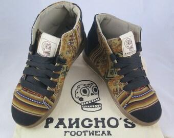 Pancho's Handmade Jet High Top Sneakers