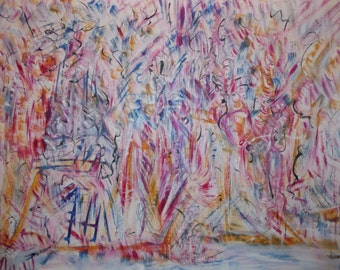 Free Form 2012 Original Oil Abstract Painting 60 cm x 80 cm signed by artist Karen Moss